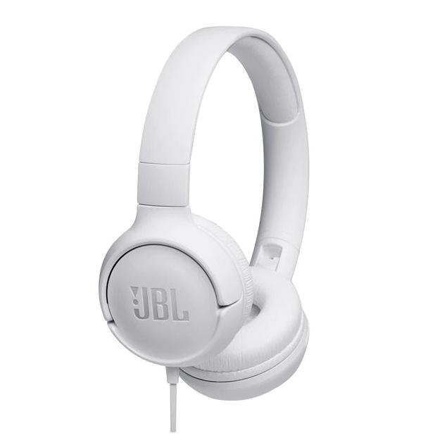 Слушалки on-ear JBL T500, Бял