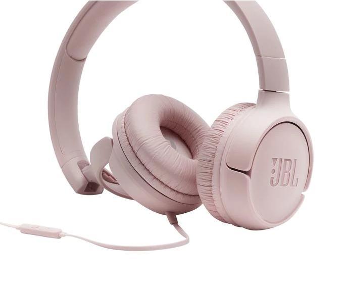 Слушалки on-ear JBL T500, Розов-3