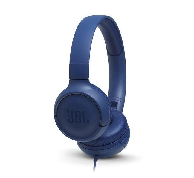 Слушалки on-ear JBL T500, Син