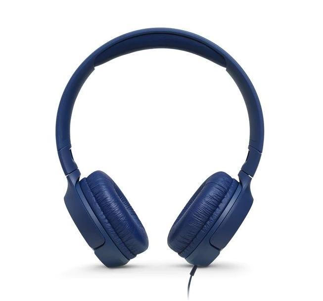 Слушалки on-ear JBL T500, Син-2