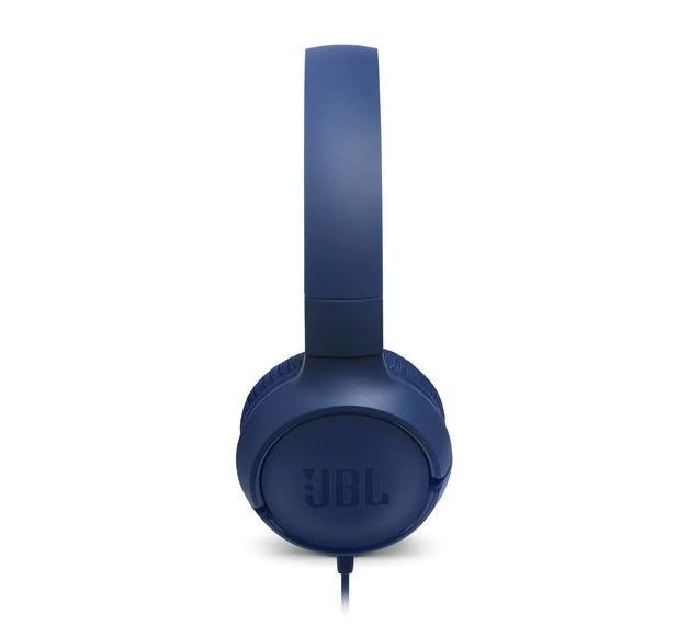 Слушалки on-ear JBL T500, Син-3