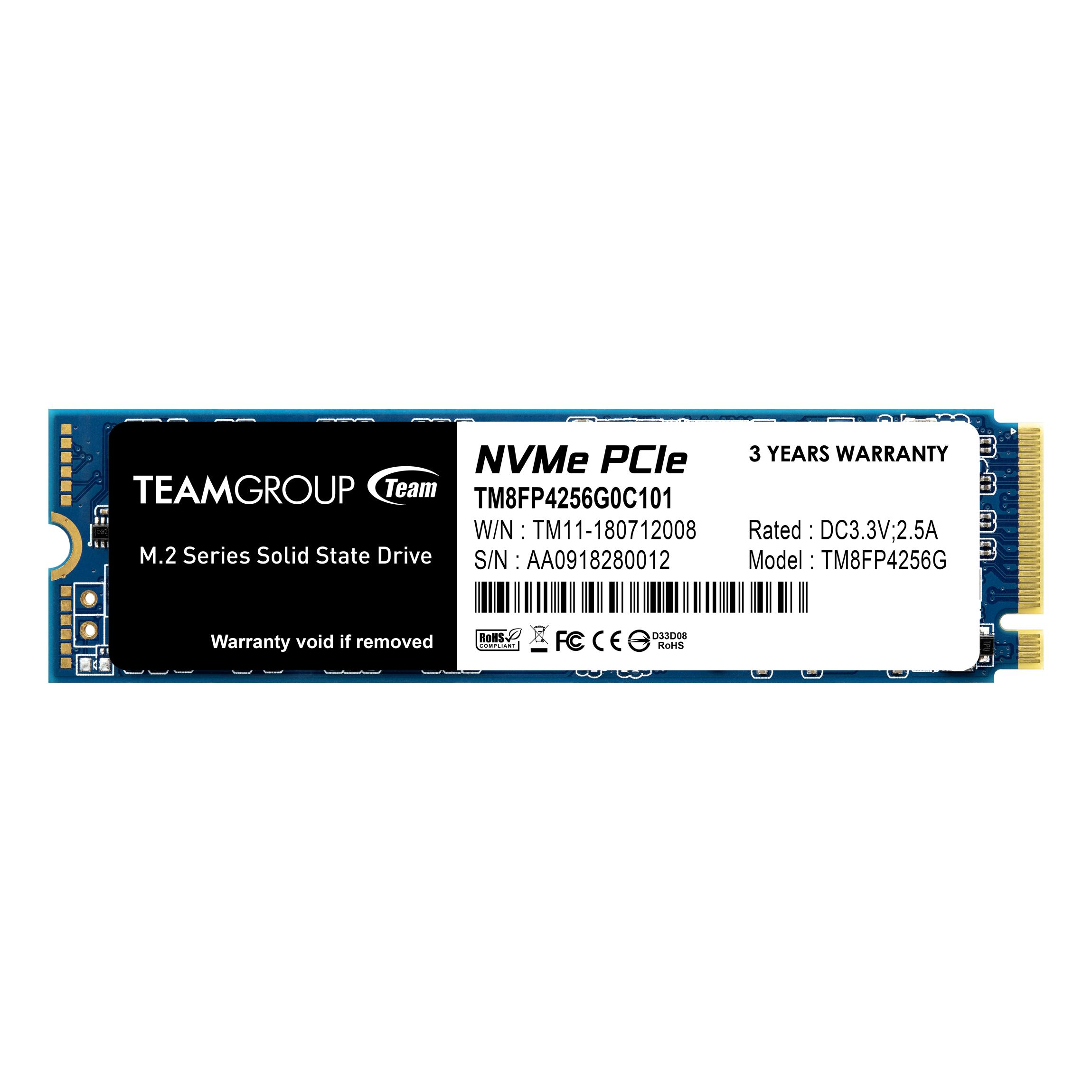 Solid State Drive (SSD) Team Group MP34 M.2 2280 256GB PCI-e 3.0 x4 NVMe-2
