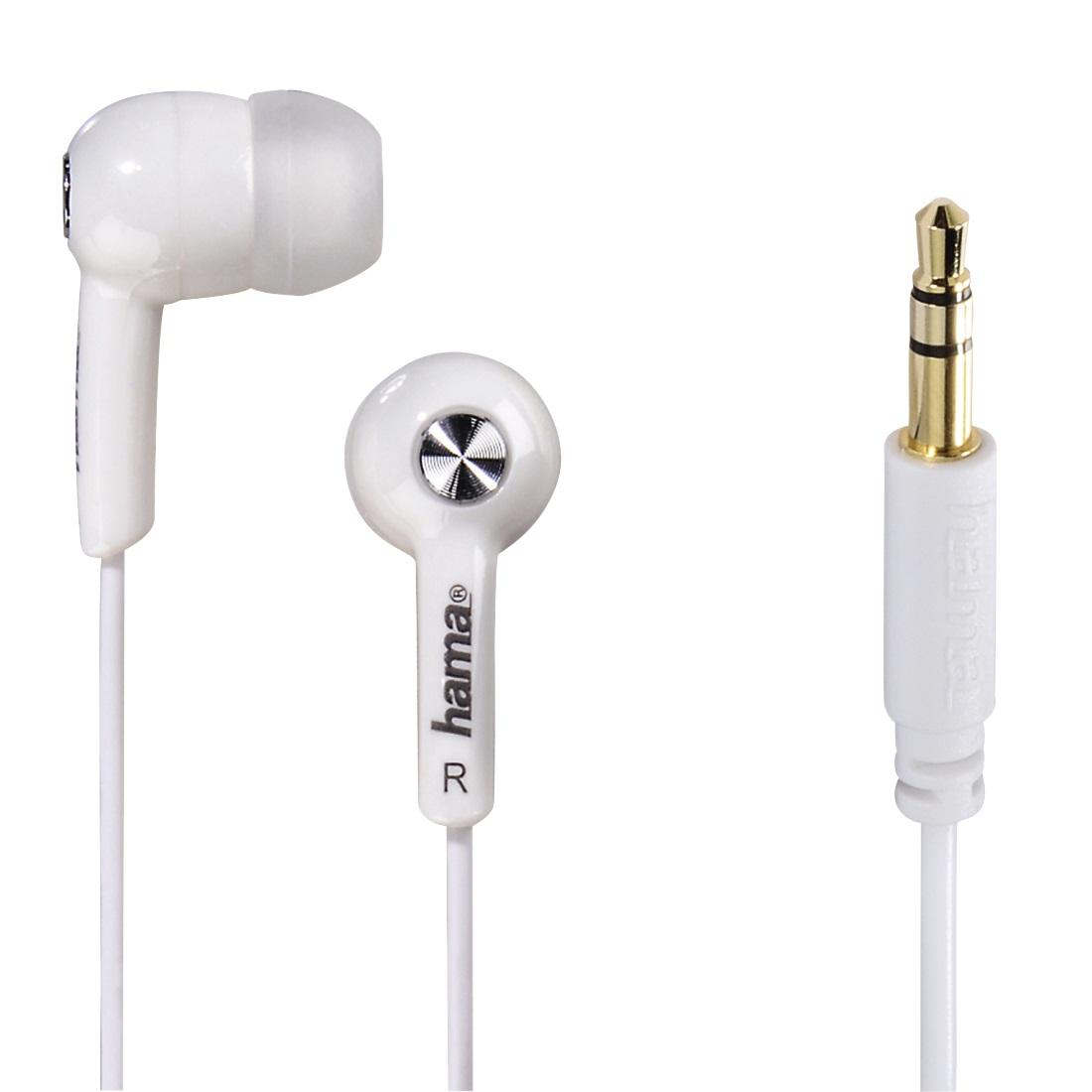 Слушалки HAMA Basic4Music, In-Ear, 1.2 m, Бял