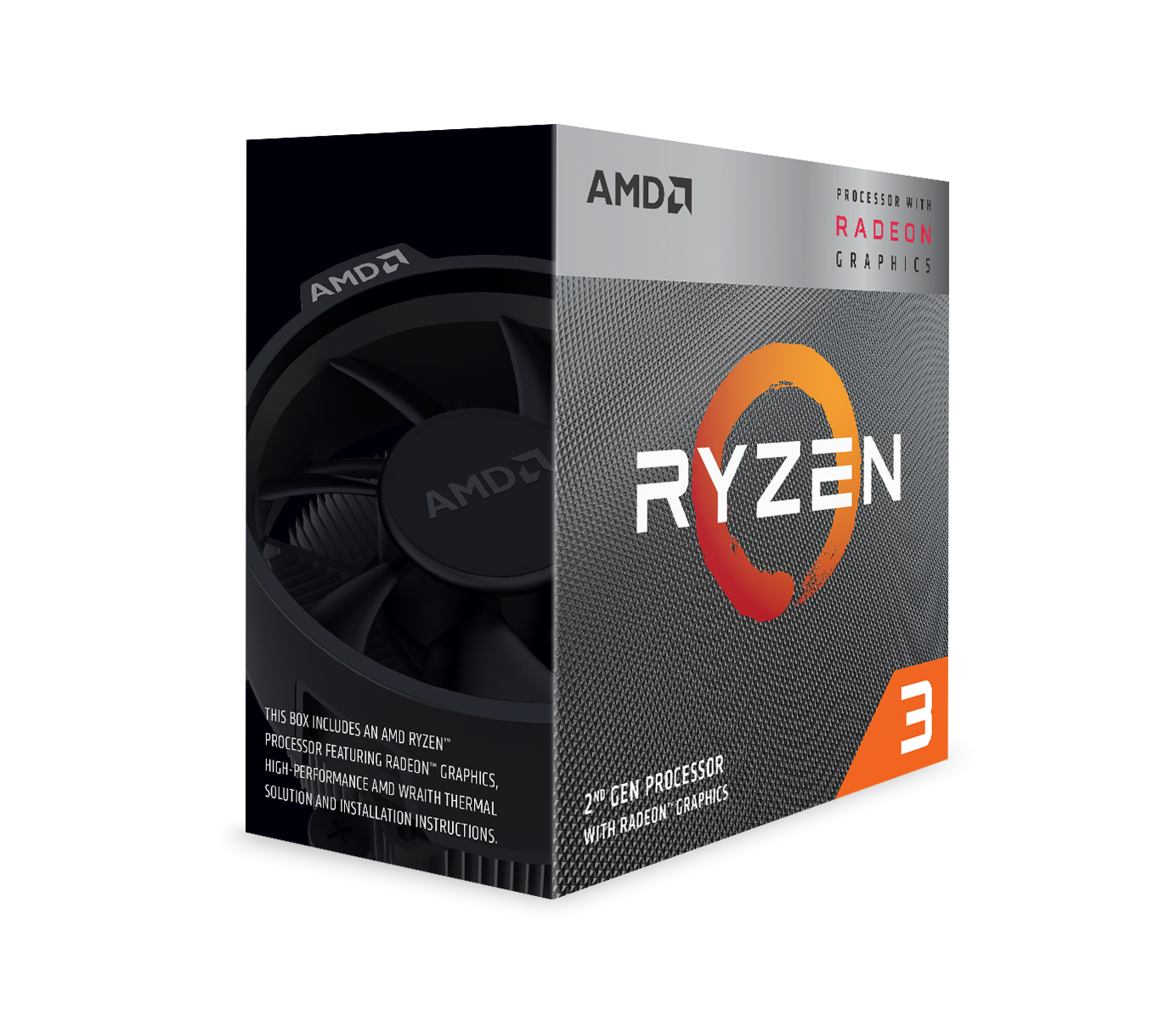 Процесор AMD RYZEN 3 3200G 4-Core 3.6 GHz (4.0 GHz Turbo) 6MB/65W/AM4/BOX