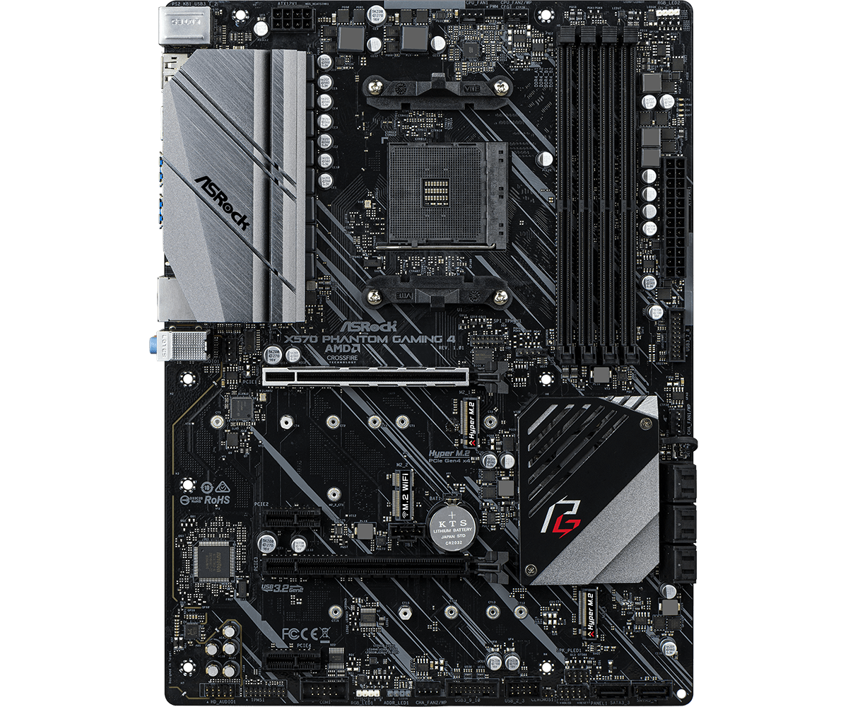 Дънна платка ASROCK X570 Phantom Gaming 4, socket AM4, RGB Polychrome, PCIE 4.0-1