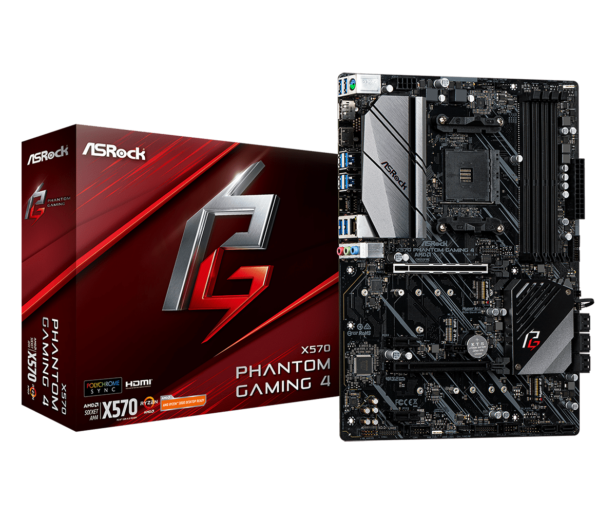 Дънна платка ASROCK X570 Phantom Gaming 4, socket AM4, RGB Polychrome, PCIE 4.0-2