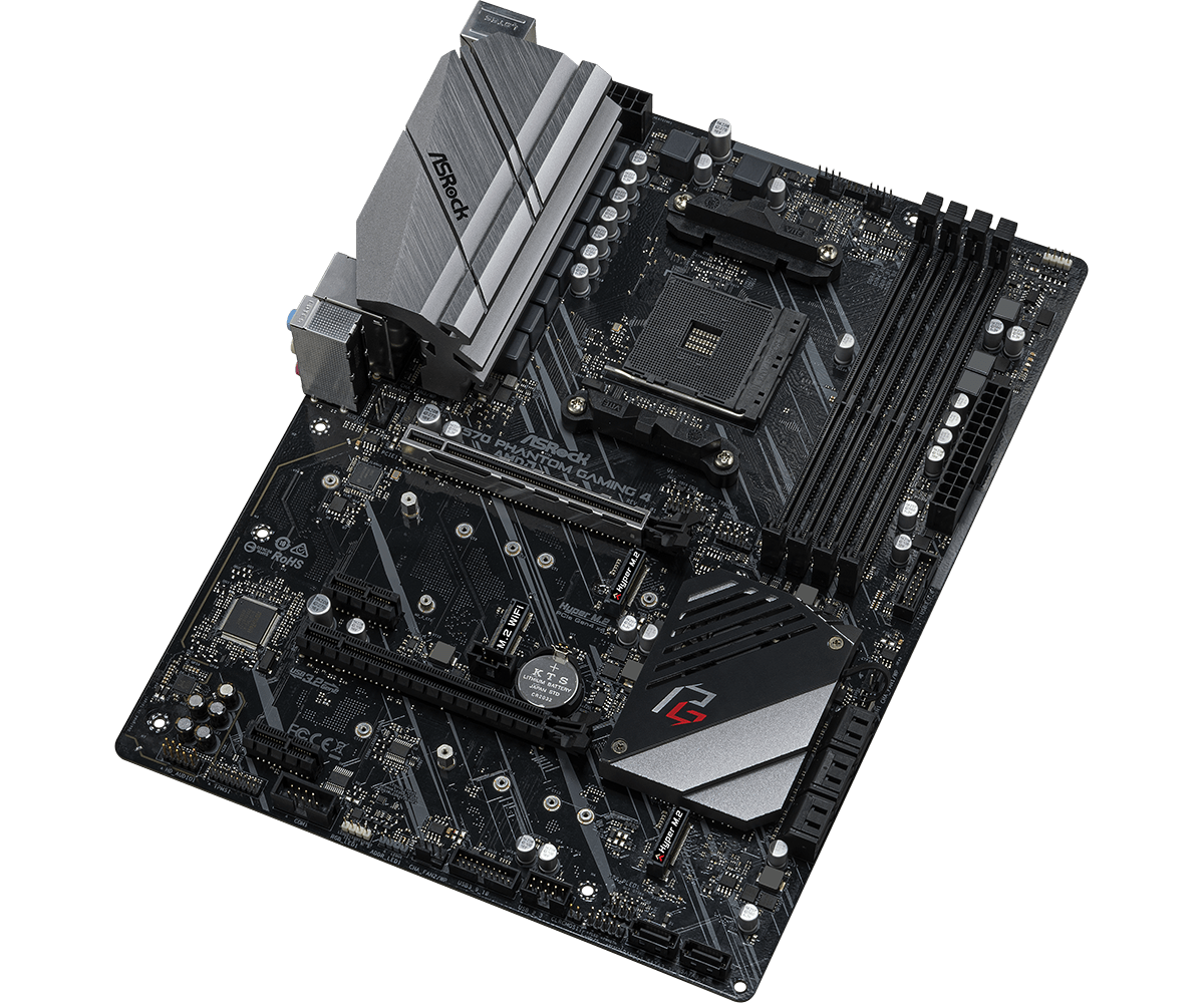 Дънна платка ASROCK X570 Phantom Gaming 4, socket AM4, RGB Polychrome, PCIE 4.0-4