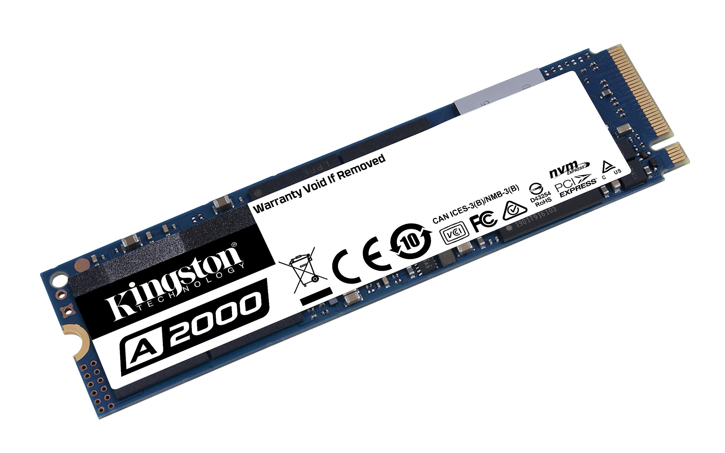 Solid State Drive (SSD) KINGSTON A2000 M.2-2280 PCIe Nvme 500GB-3