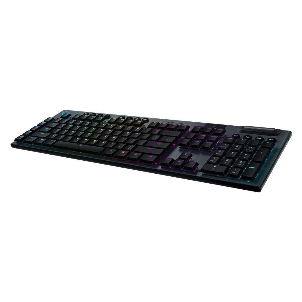 Безжична геймърска механична клавиатура Logitech, G915 Lightsync RGB, Linear суичове