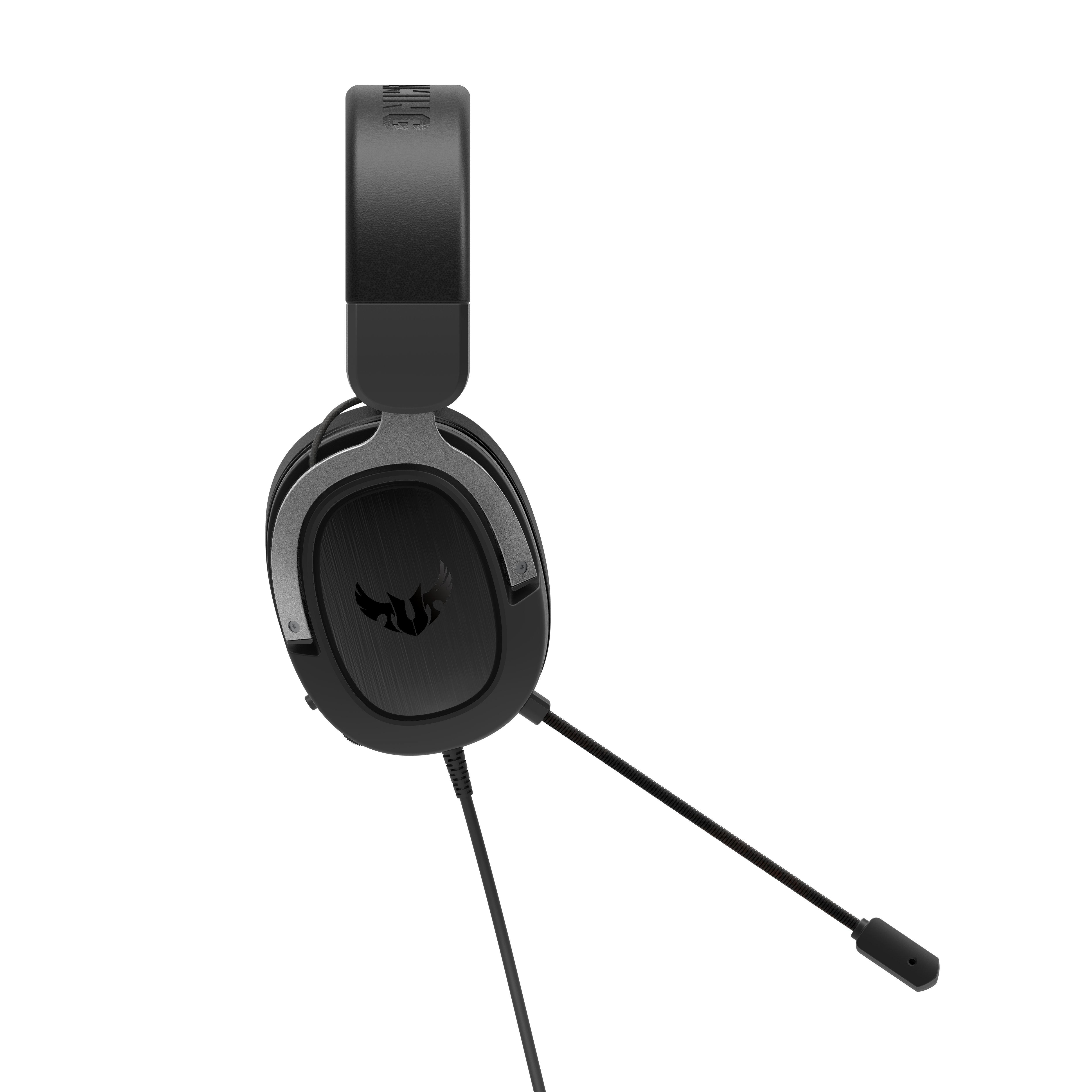 Геймърски слушалки ASUS TUF Gaming H3 Gun Metal 7.1 Virtual surround sound-4