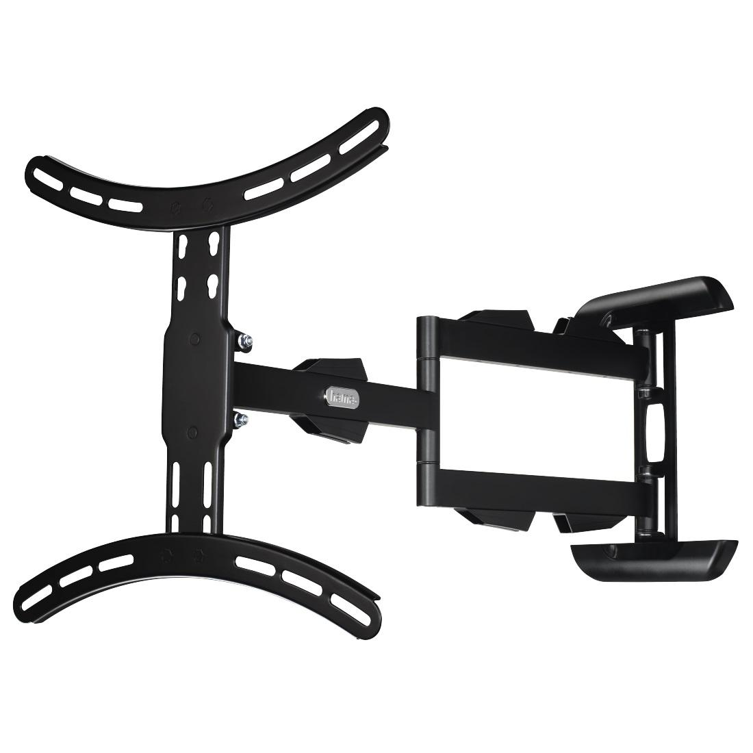 """Стенна стойка за TV HAMA 108712, Регулируема, 165 cm (65""""), 25 кг, 2 рамена, 3 звезди, Черен"""