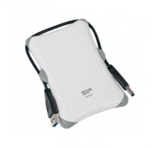 Външен хард диск SILICON POWER  Armor A30 , 2.5, 2TB, USB3.1, Бял
