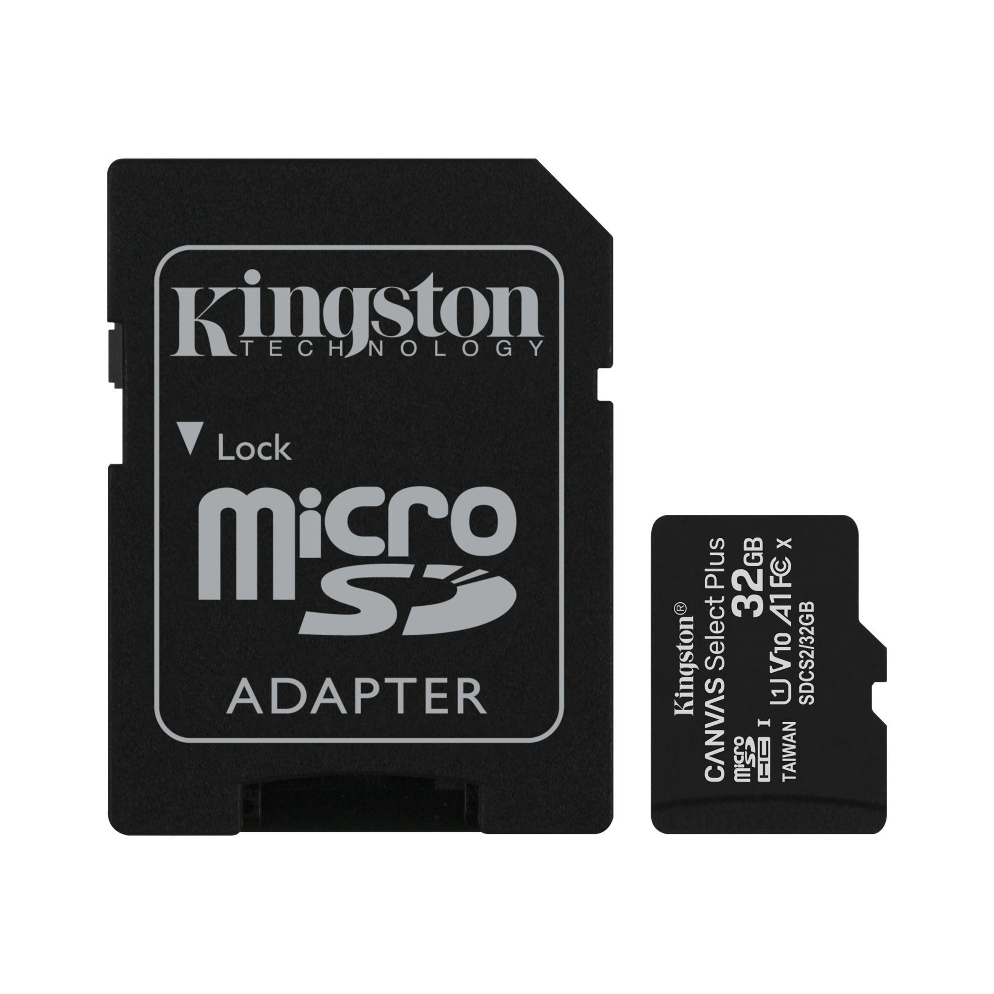 Карта памет Kingston Canvas Select Plus  microSDHC 32GB, Class 10 UHS-I-2