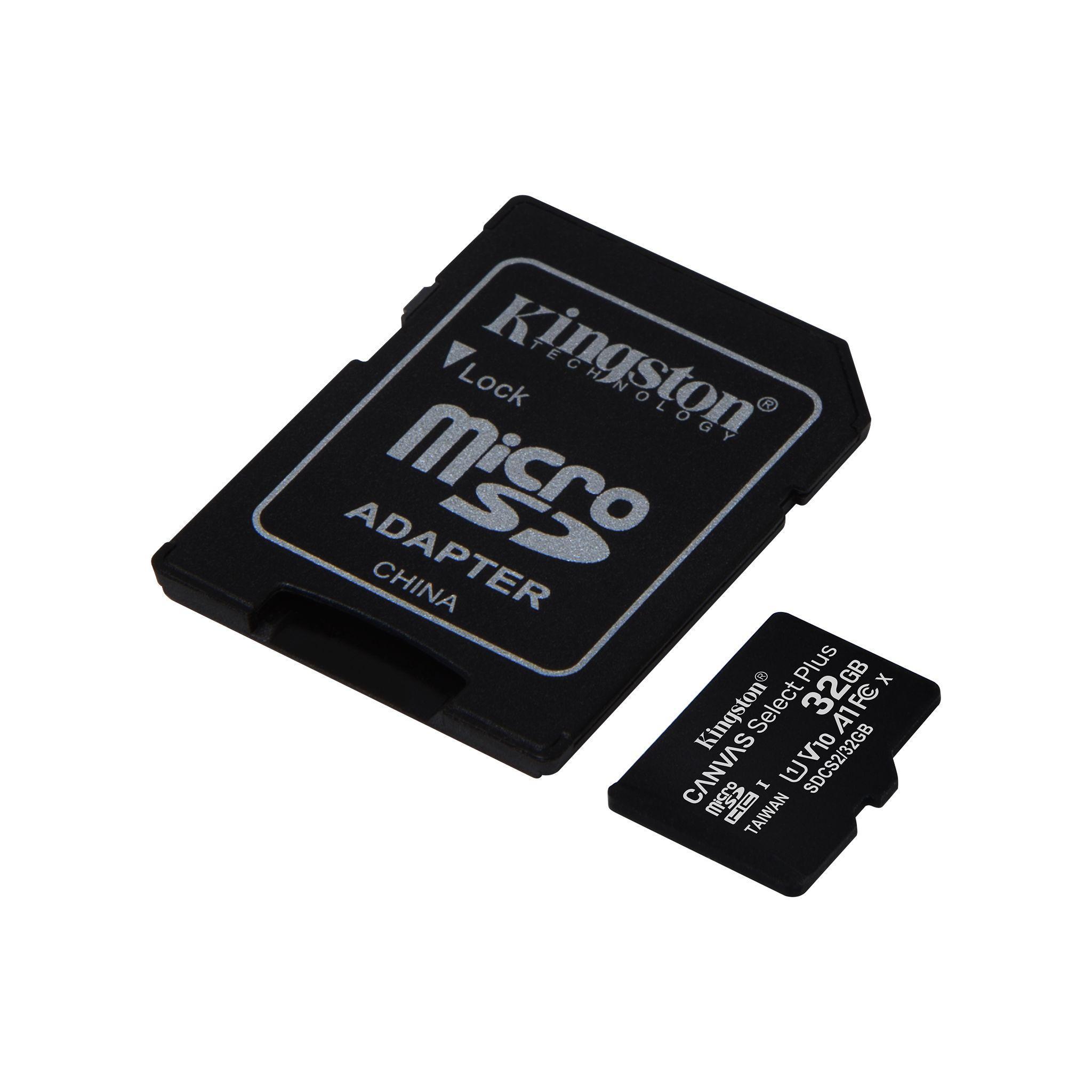 Карта памет Kingston Canvas Select Plus  microSDHC 32GB, Class 10 UHS-I-3