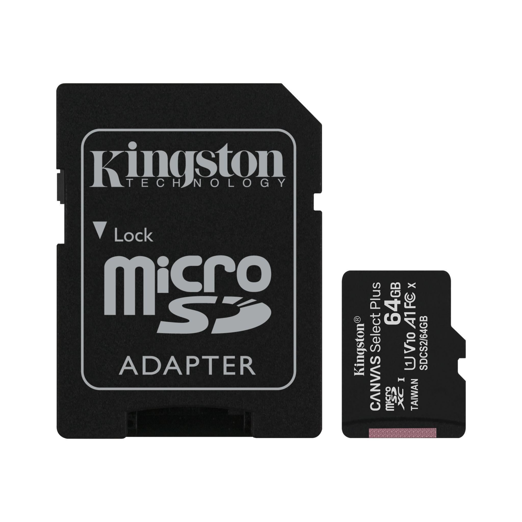 Карта памет Kingston Canvas Select Plus  microSDHC 64GB, Class 10 UHS-I-2