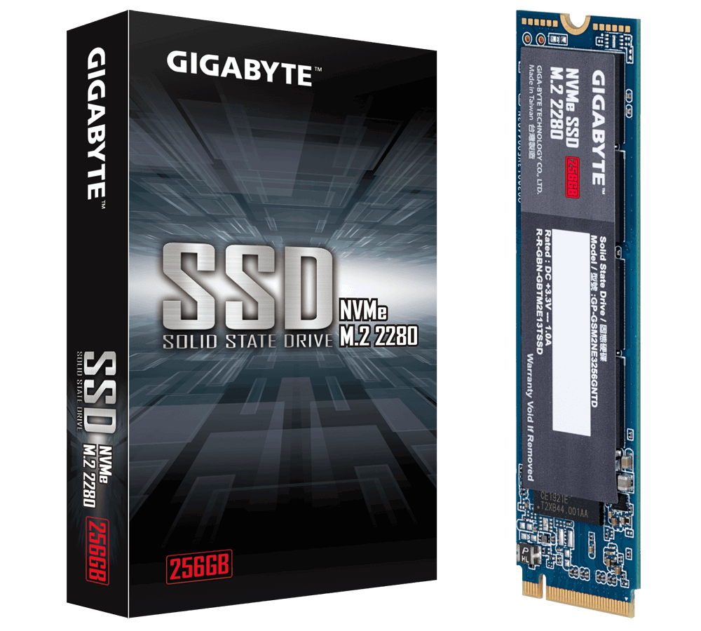 Solid State Drive (SSD) Gigabyte M.2 NVMe PCIe Gen 3 SSD 256GB -2
