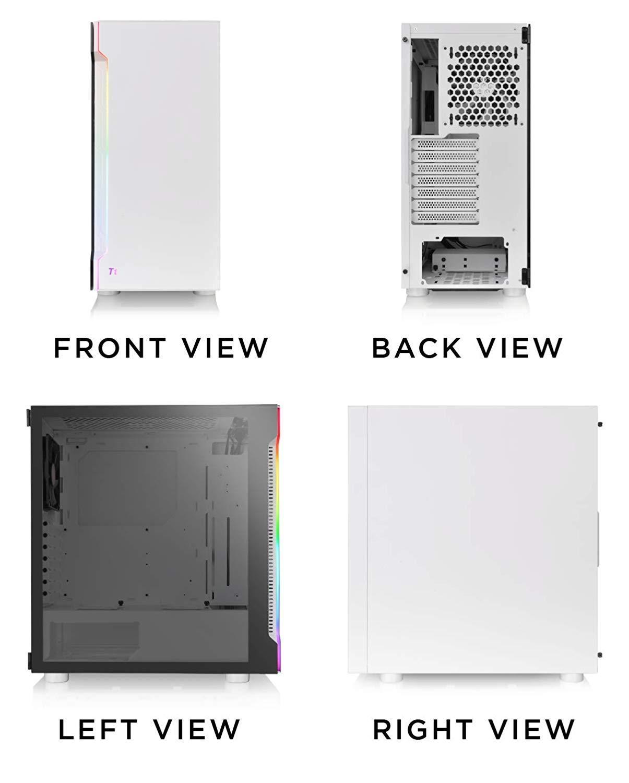 Кутия Thermaltake H200 TG Snow RGB ATX Mid Tower-3