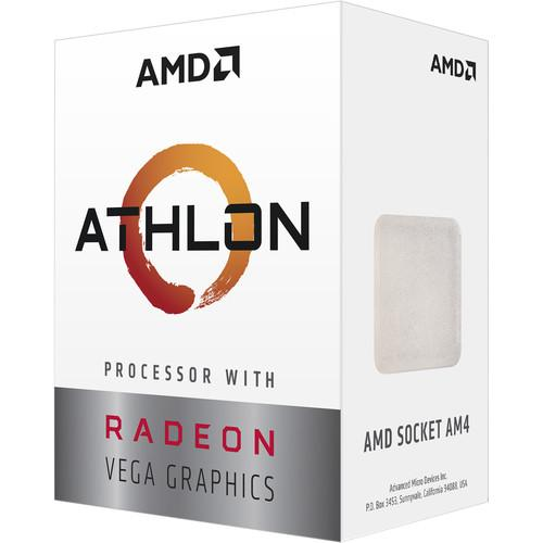 Процесор AMD Athlon 3000G, 2-Core 3.5 GHz, 5MB/35W/AM4/BOX