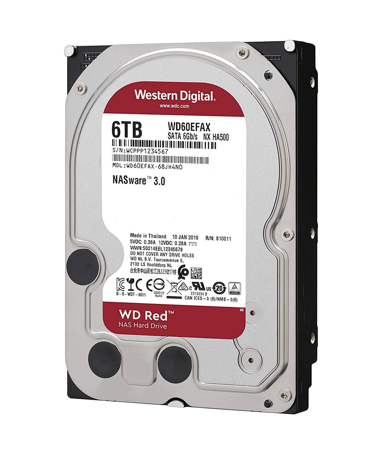 Хард диск WD RED, 6TB, 5400rpm, 256MB, SATA 3, WD60EFAX