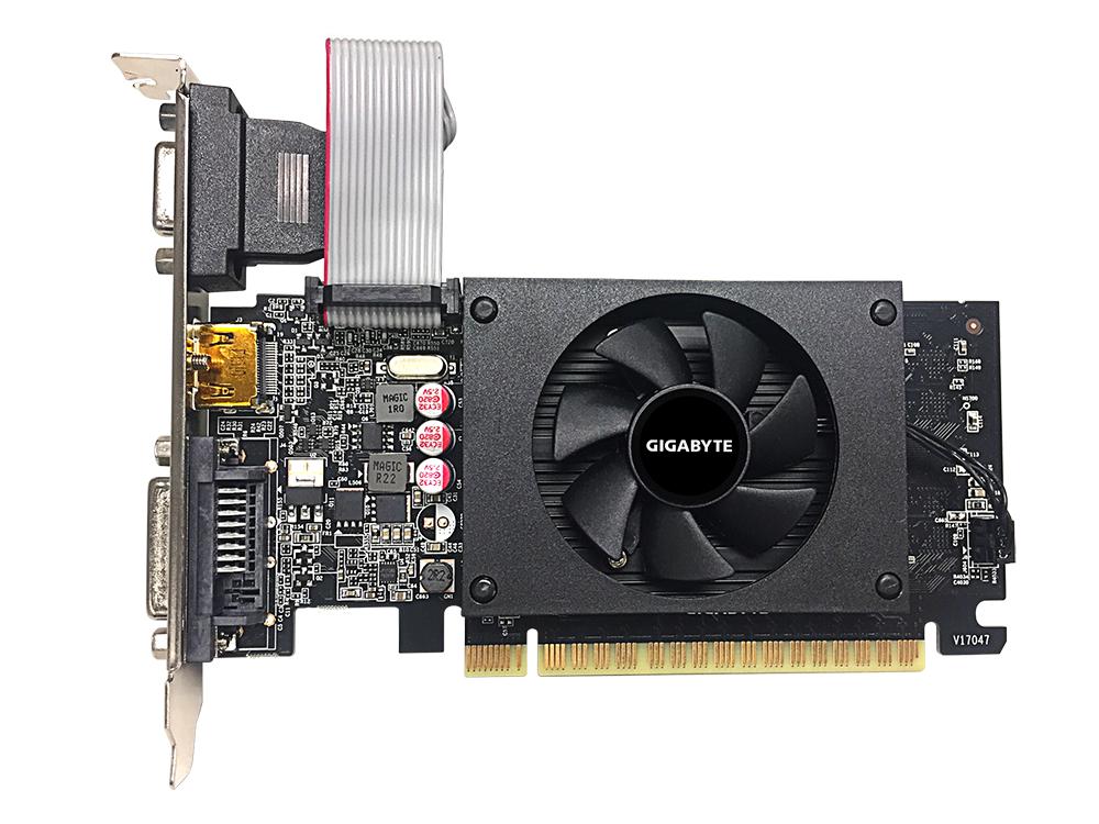 Видео карта Gigabyte GeForce GT 710, 2GB, GDDR5, 64 bit, D-Sub, DVI-D, HDMI