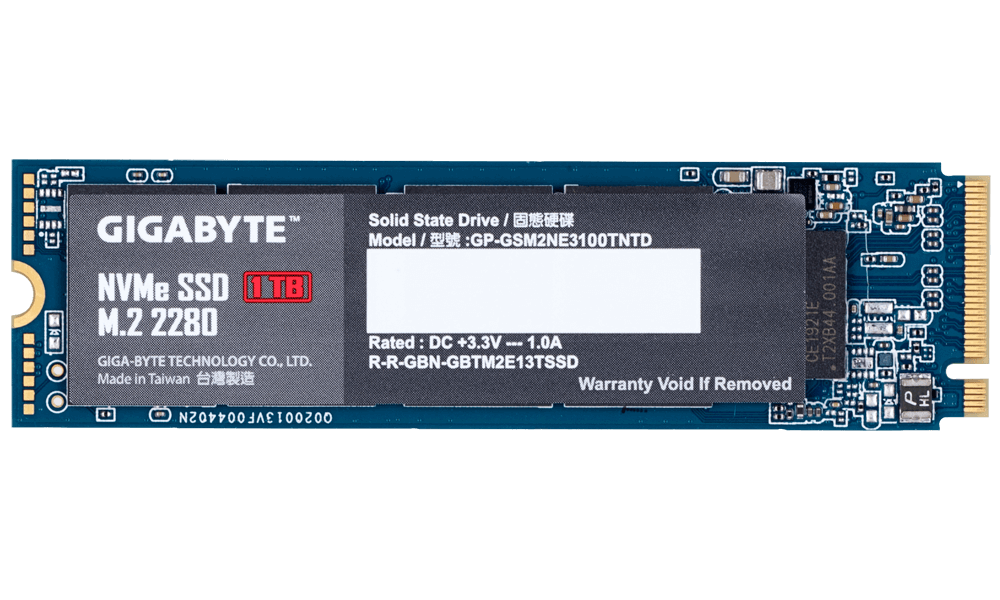 Solid State Drive (SSD) Gigabyte M.2 Nvme PCIe Gen 3 SSD 1TB