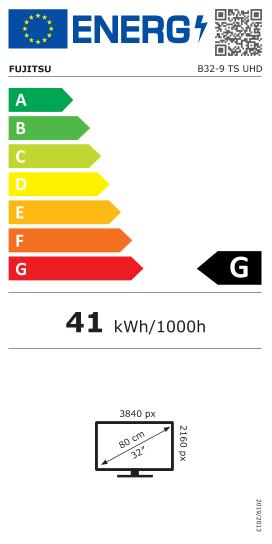 """Монитор FUJITSU B24-9 TS, Business line, 23.8"""", FHD, IPS, DP, HDMI, D-SUB, тъмно сив-2"""