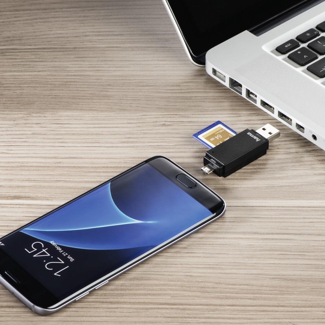 Четец за карти HAMA 181056, USB 2.0, SD/microSD, черен-3