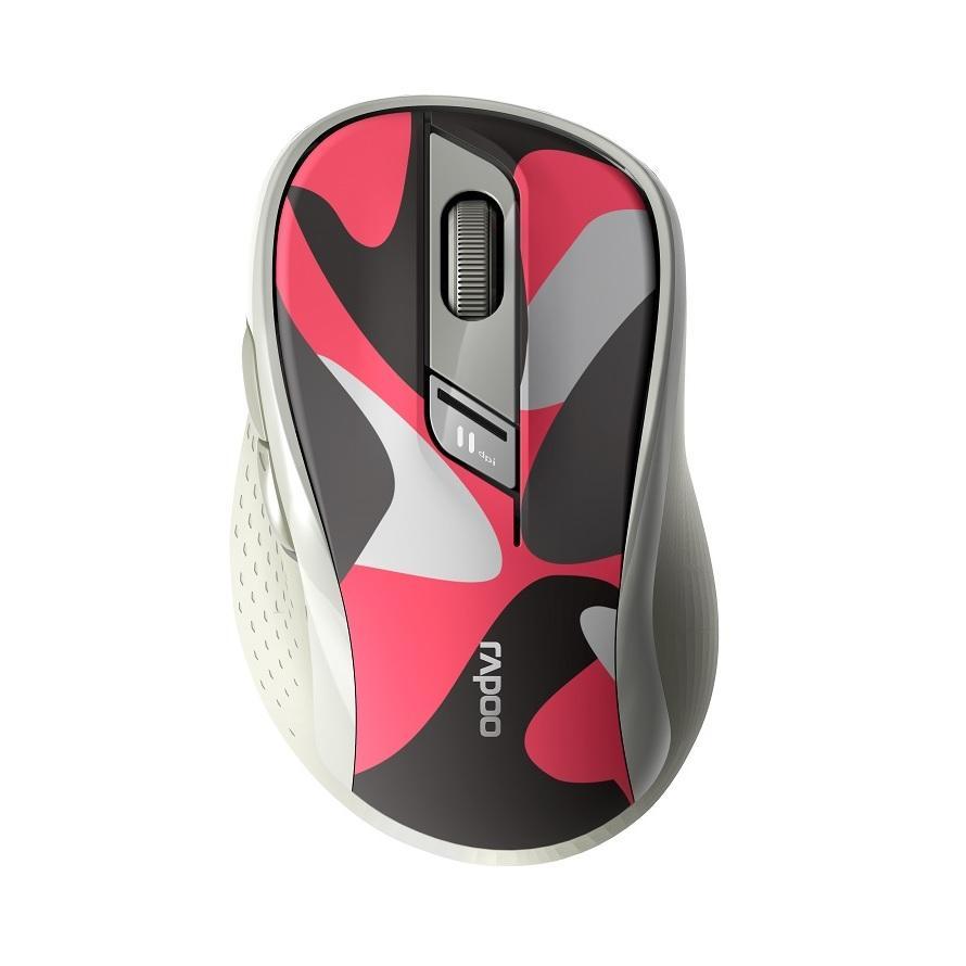Безжична оптична мишка RAPOO M500 Silent, Multi-mode, безшумна, Червен