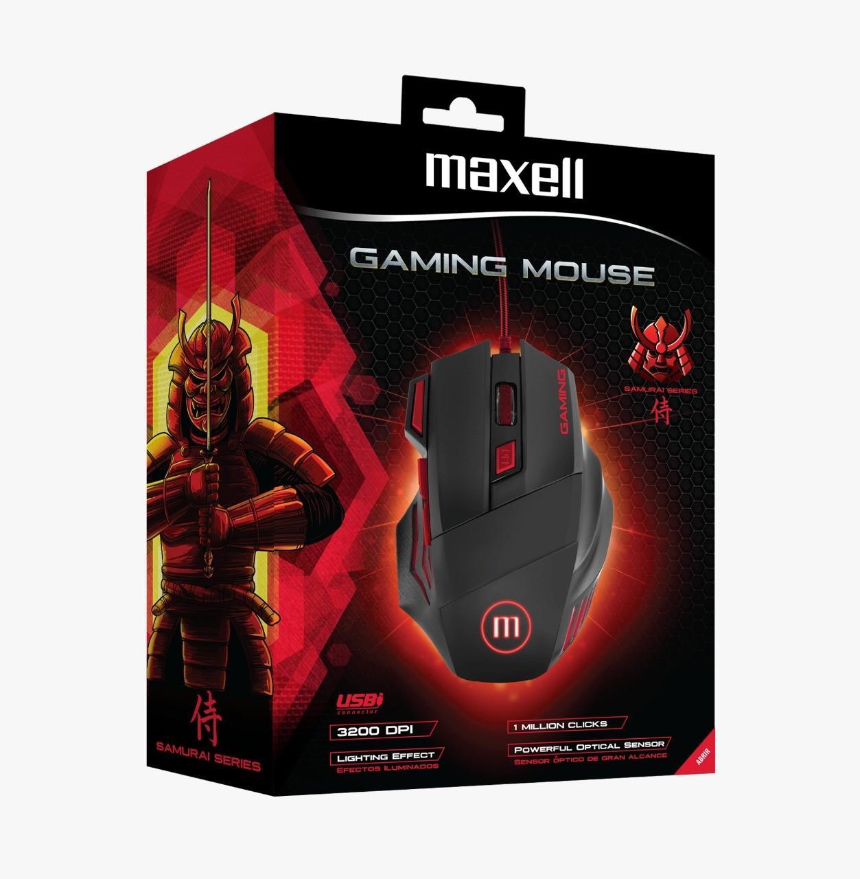 Геймърска мишка MAXELL Samurai CA-MOWR-1200, ILLUMINATED, Оптична, Кабел, USB, Черен-2