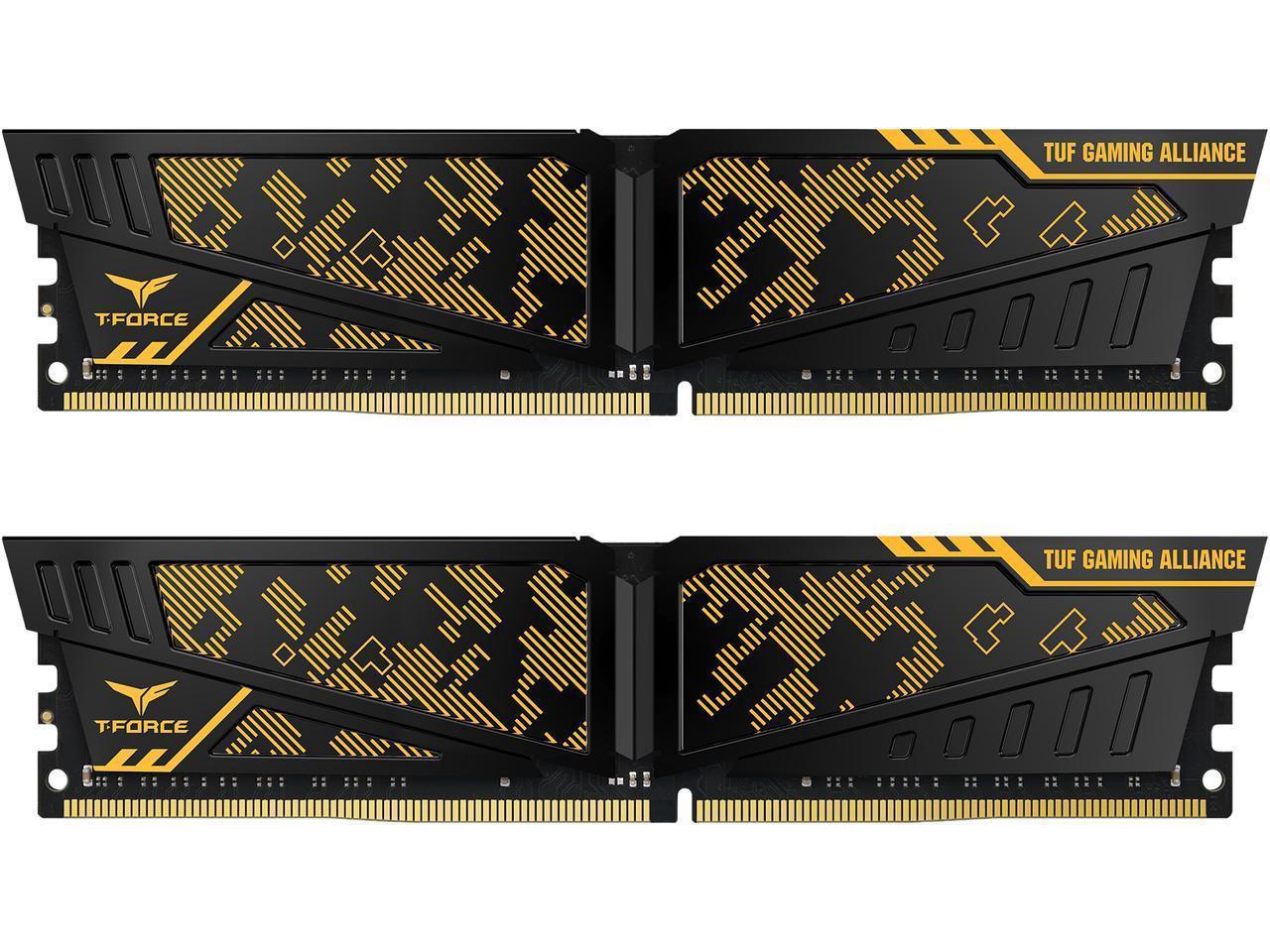 Памет Team Group T-Force Vulcan TUF, DDR4 - 16GB(2x8GB), 3600MHz, CL19-19-19-39, 1.35V