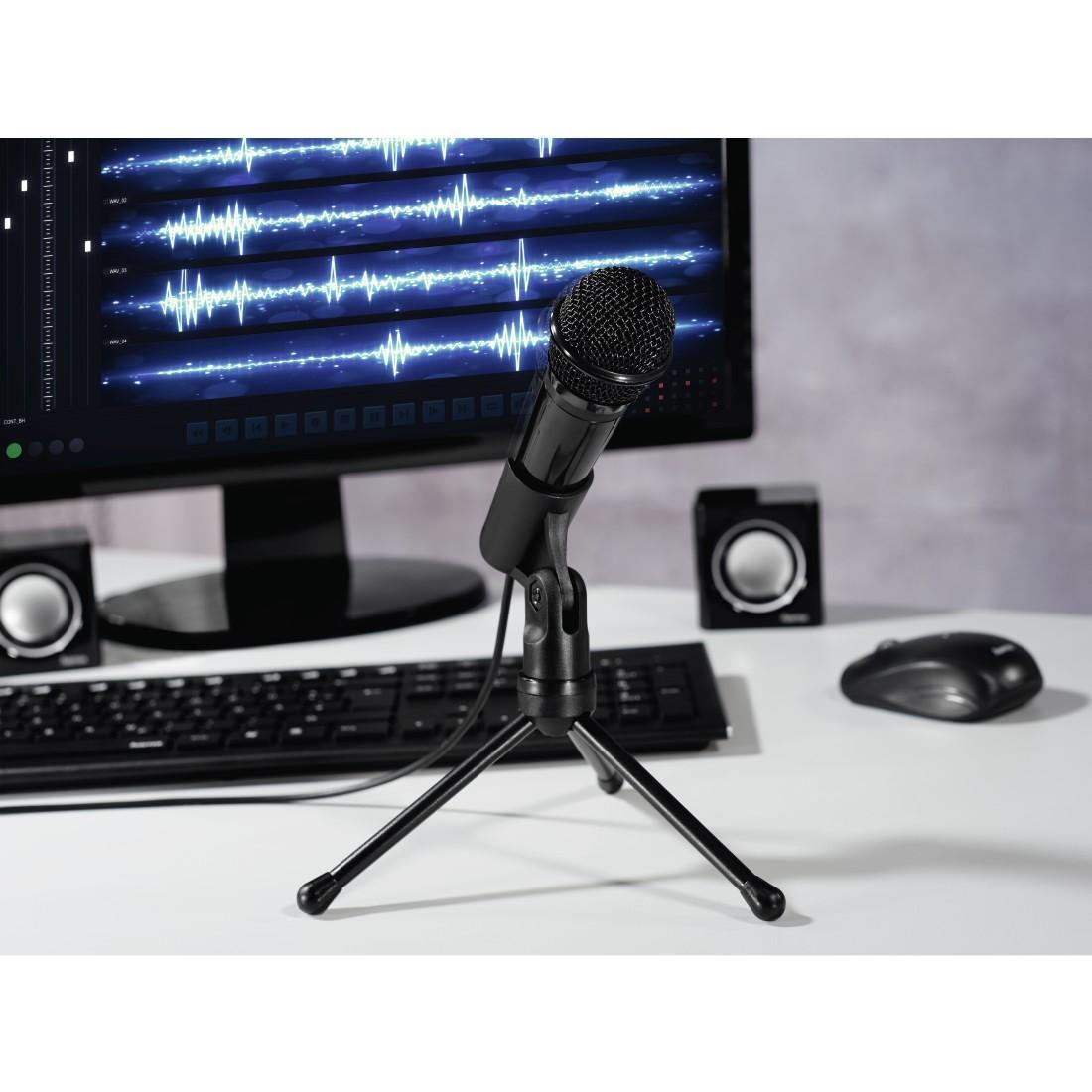 Настолен микрофон HAMA MIC-P35 Allround, за PC/лаптоп, 3.5 mm жак, Черен-3