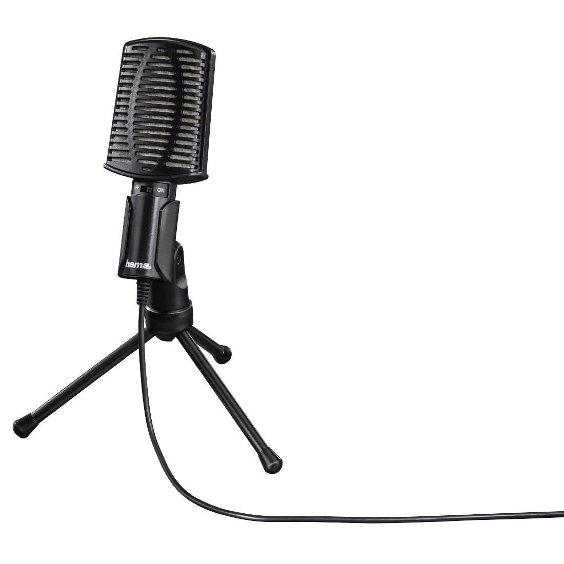 Настолен микрофон HAMA MIC-USB Allround, за PC/лаптоп, USB, Черен