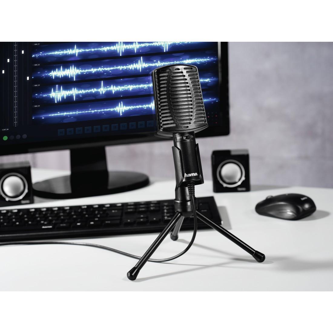 Настолен микрофон HAMA MIC-USB Allround, за PC/лаптоп, USB, Черен-2