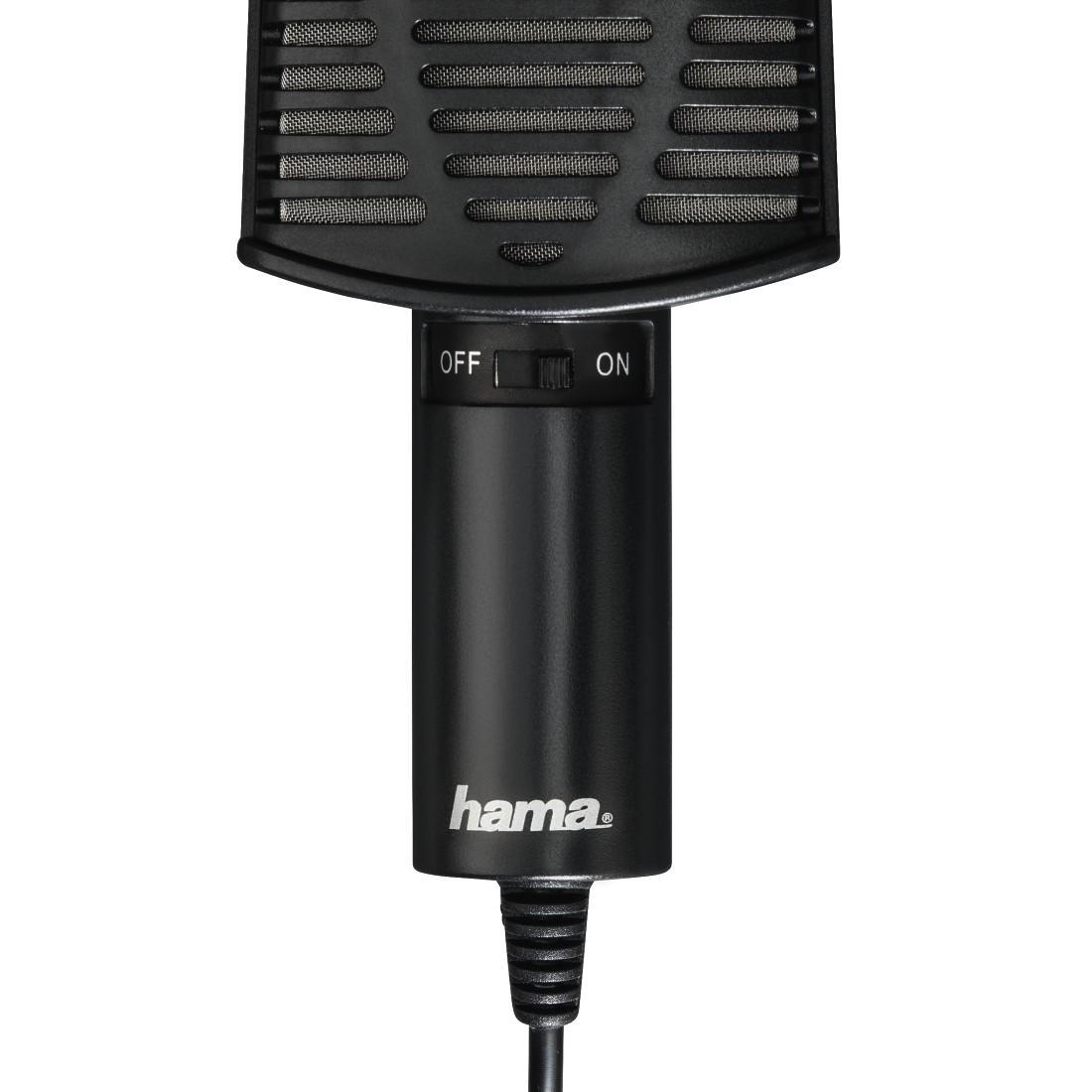 Настолен микрофон HAMA MIC-USB Allround, за PC/лаптоп, USB, Черен-3