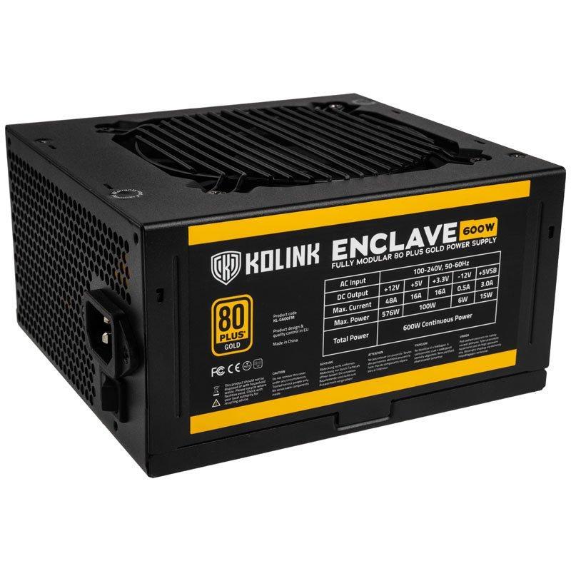 Захранващ блок Kolink Enclave 600W 80 PLUS Gold modular