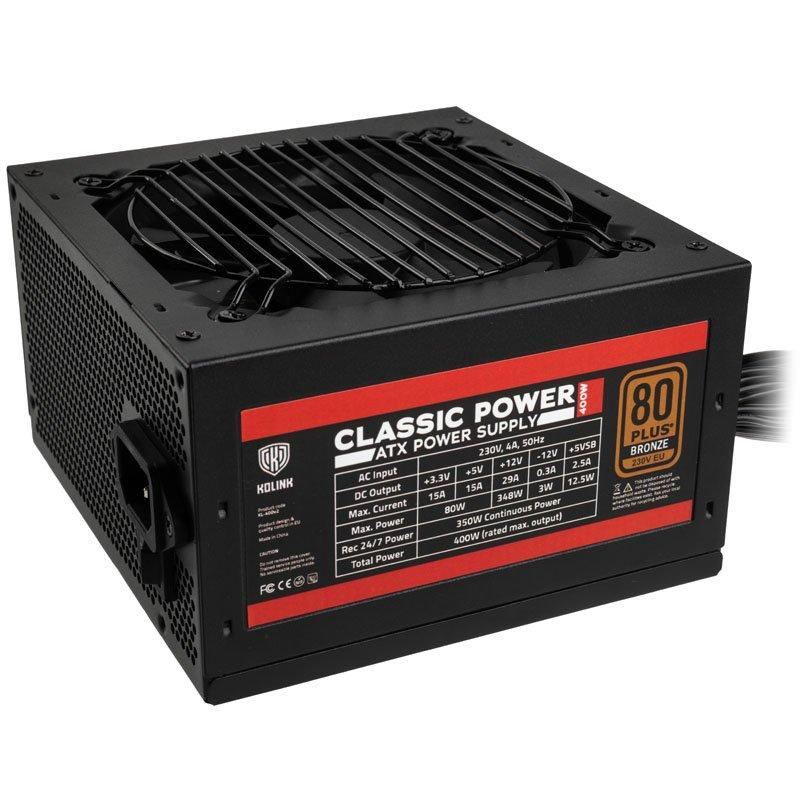 Захранващ блок Kolink Classic Power 400W 80 PLUS Bronze