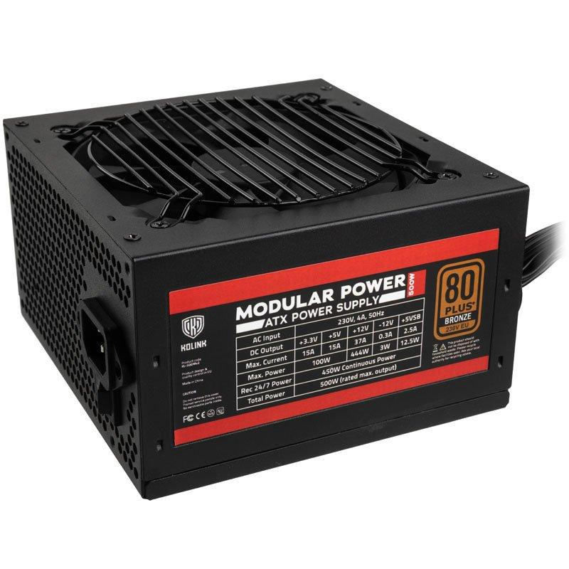 Захранващ блок Kolink Modular Power 500W 80 PLUS Bronze