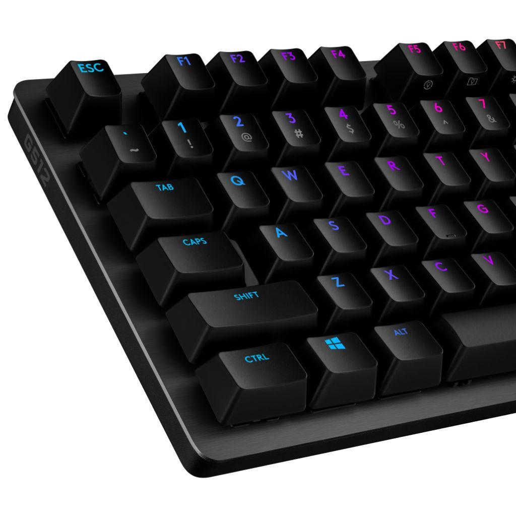 Геймърска механична клавиатура Logitech G512 Carbon GX Red Linear-3