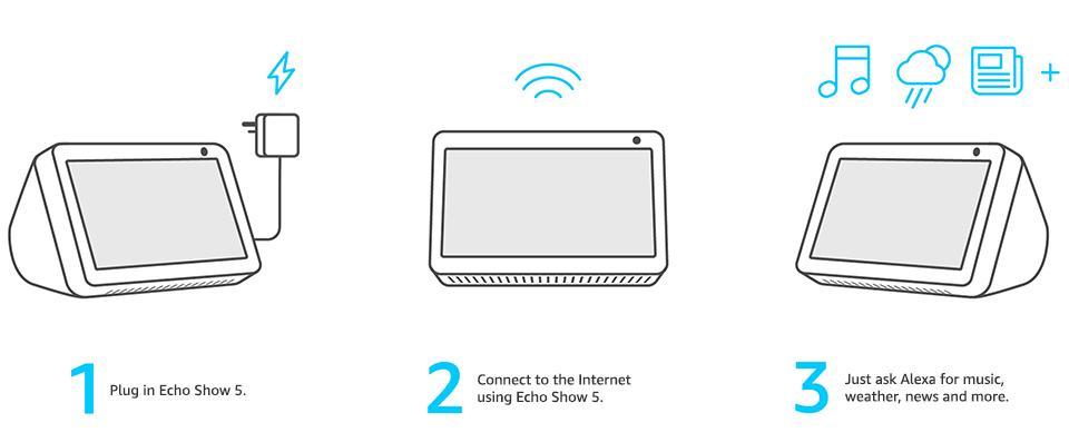 Смарт тонколона Amazon Echo Show 5, сензорен екран, гласов асистент, Черен-3