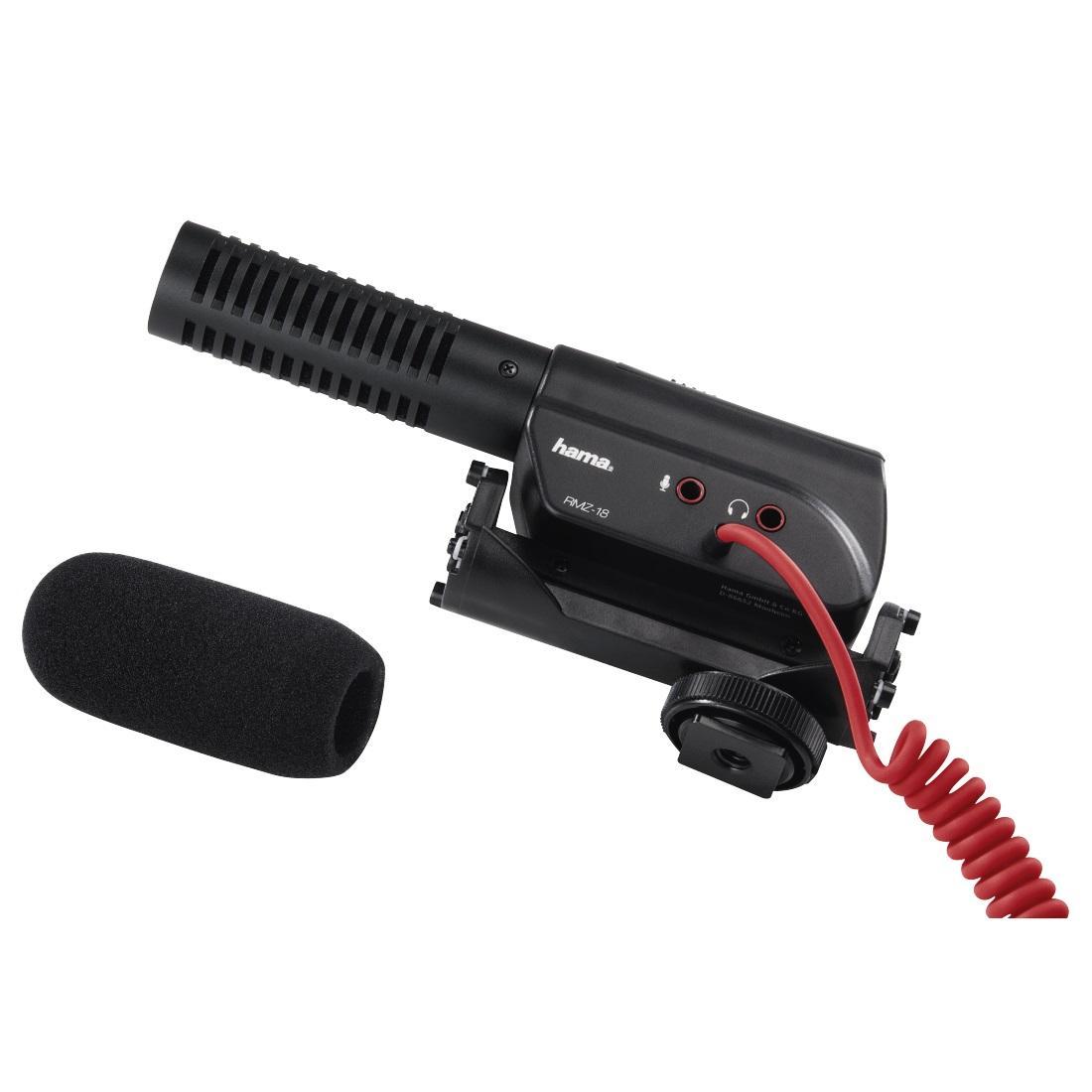Микрофон за камера HAMA RMZ-18, кардиоиден, 3.5 mm жак, Черен-3