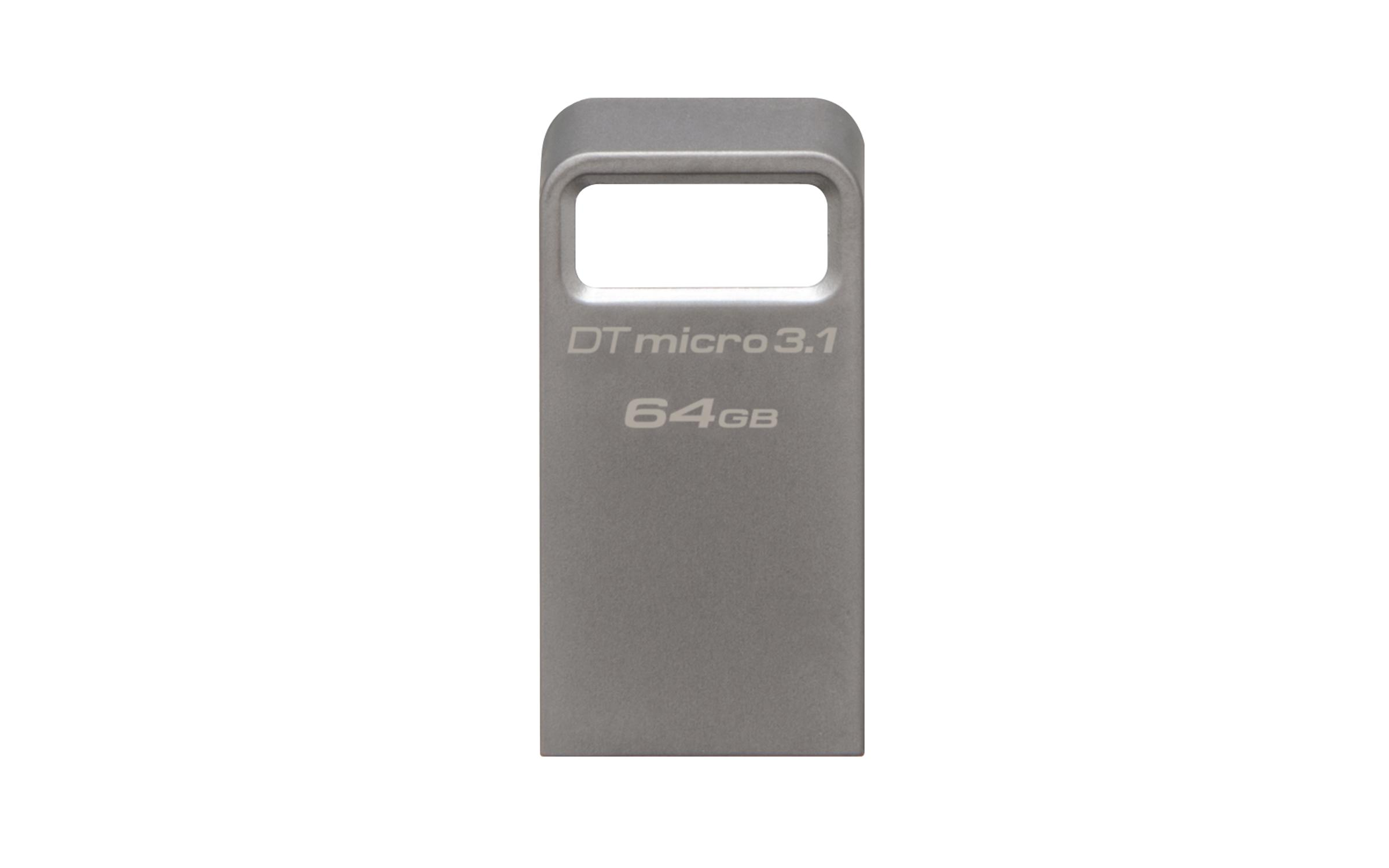 USB памет KINGSTON DataTraveler Micro 3.1 64GB, USB 3.1, Сребрист