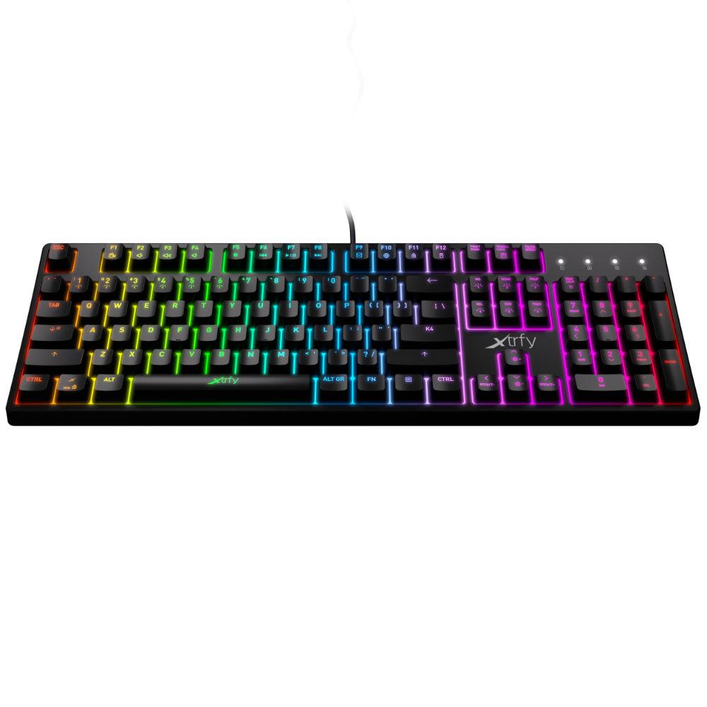 Геймърскa механична клавиатура Xtrfy K4 RGB Kailh Red Switch, US Layout