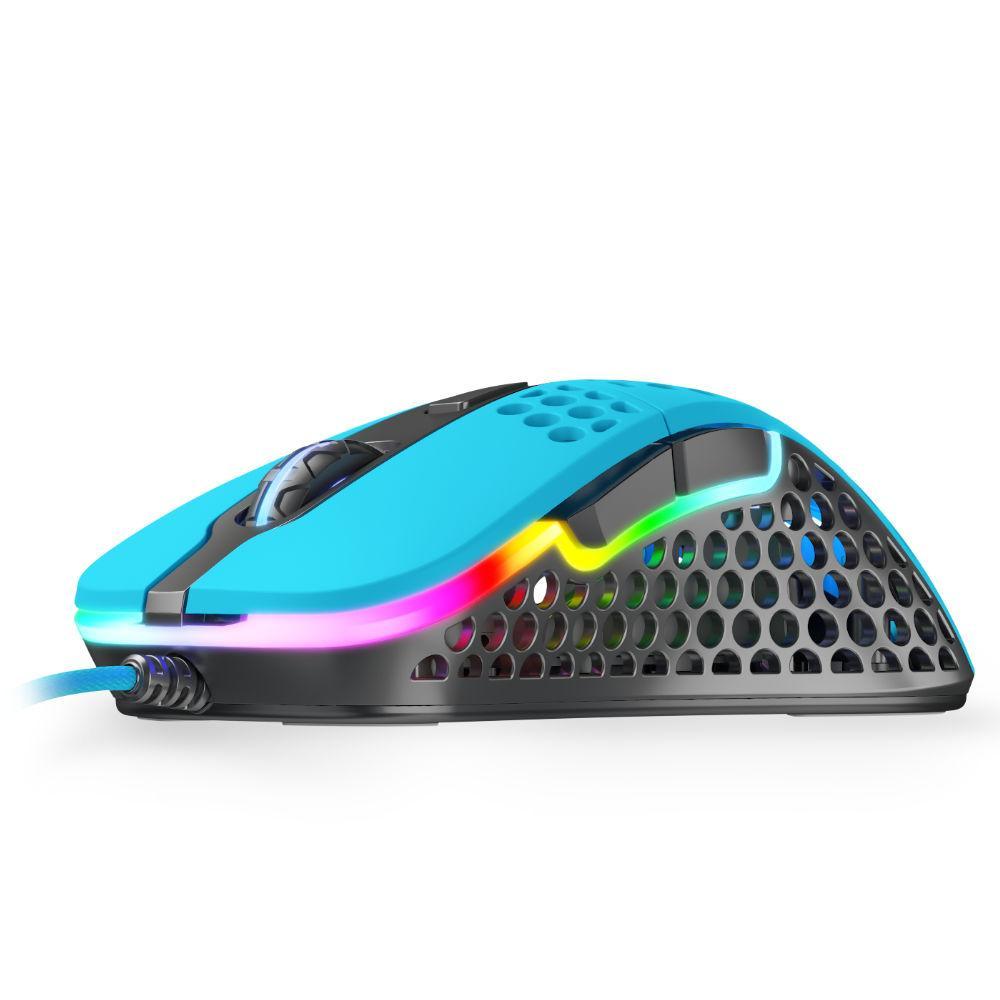 Геймърска мишка Xtrfy M4 Miami Blue, RGB, Син
