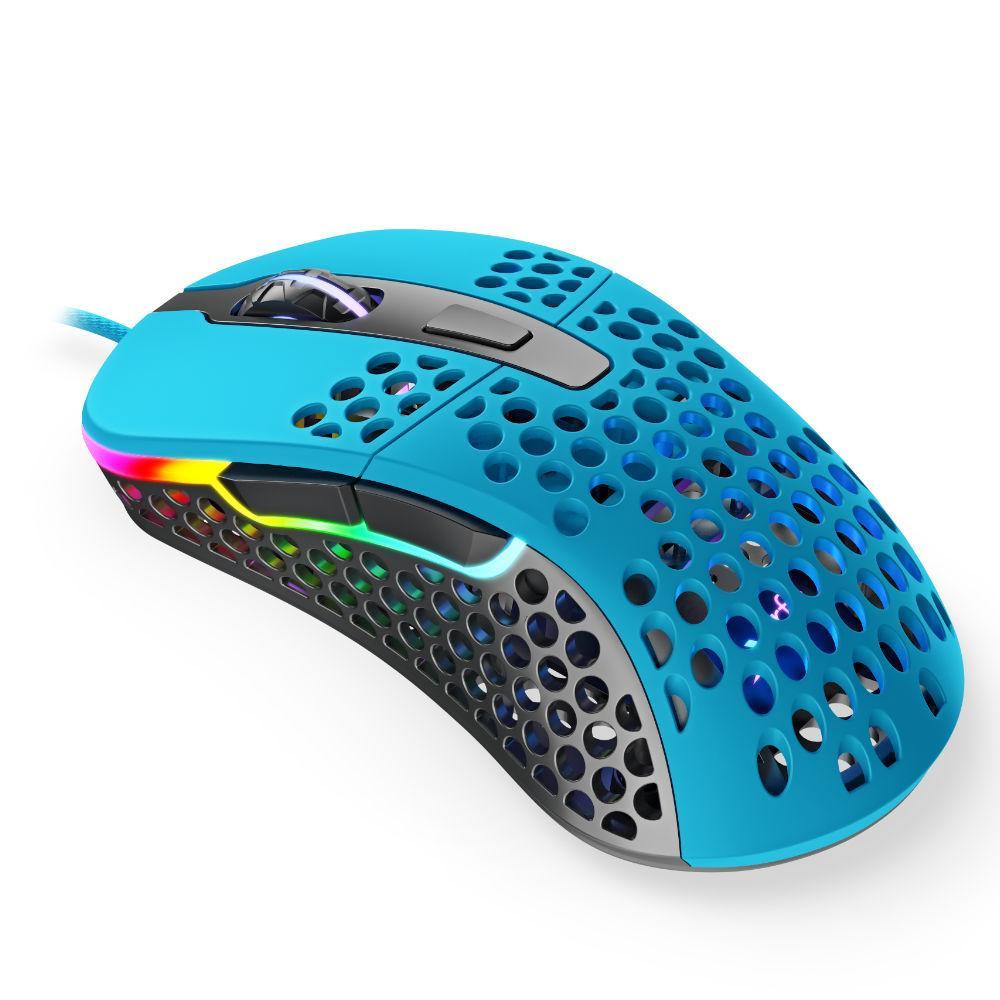 Геймърска мишка Xtrfy M4 Miami Blue, RGB, Син-2