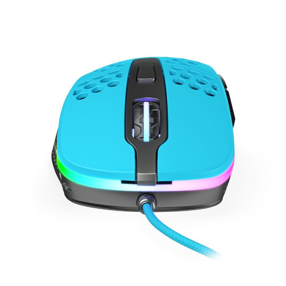 Геймърска мишка Xtrfy M4 Miami Blue, RGB, Син-3