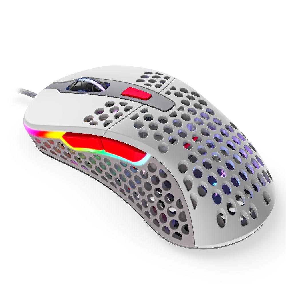 Геймърска мишка Xtrfy M4 Retro, RGB, Бял/Сив/Червен-2