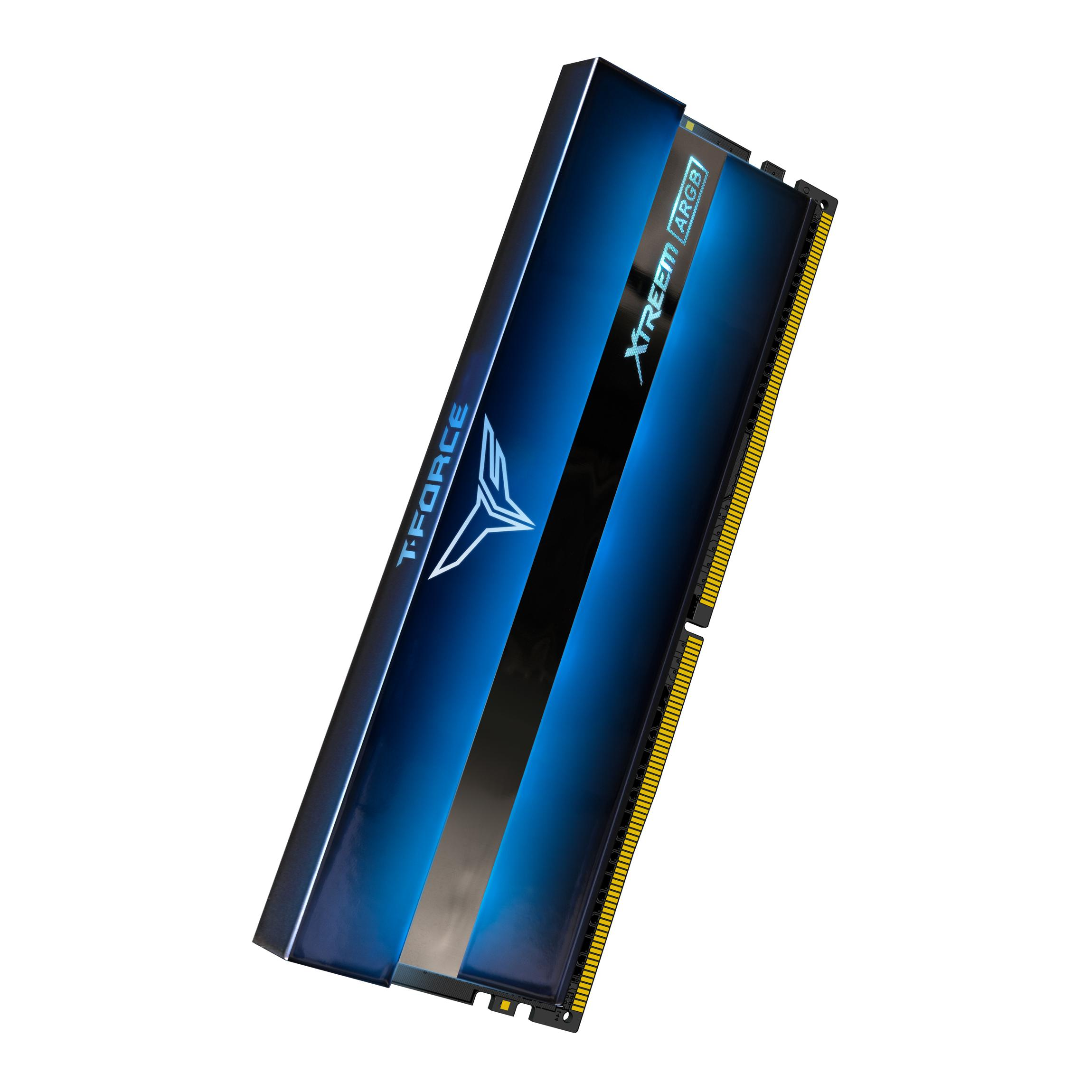 Памет Team Group T-Force XTREEM ARGB, DDR4, 16GB (2x8GB), 3600MHz, CL18-22-22-42, 1.35V-2
