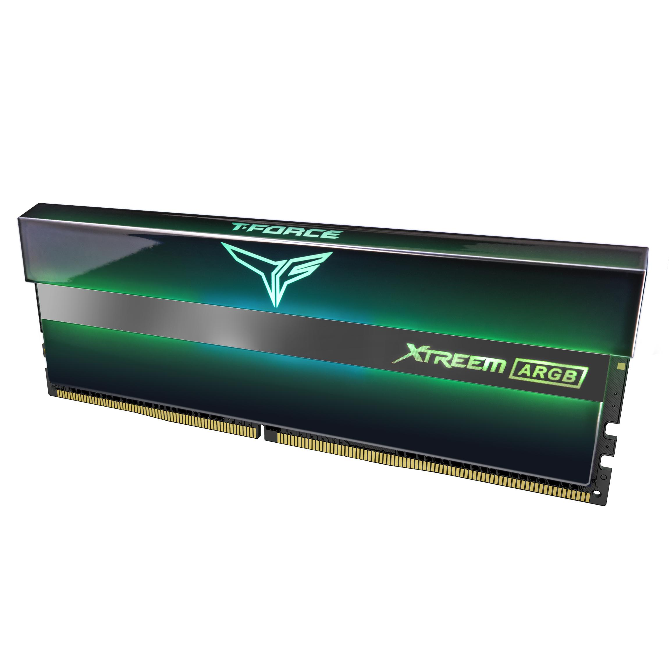 Памет Team Group T-Force XTREEM ARGB, DDR4, 16GB (2x8GB), 3600MHz, CL18-22-22-42, 1.35V-3