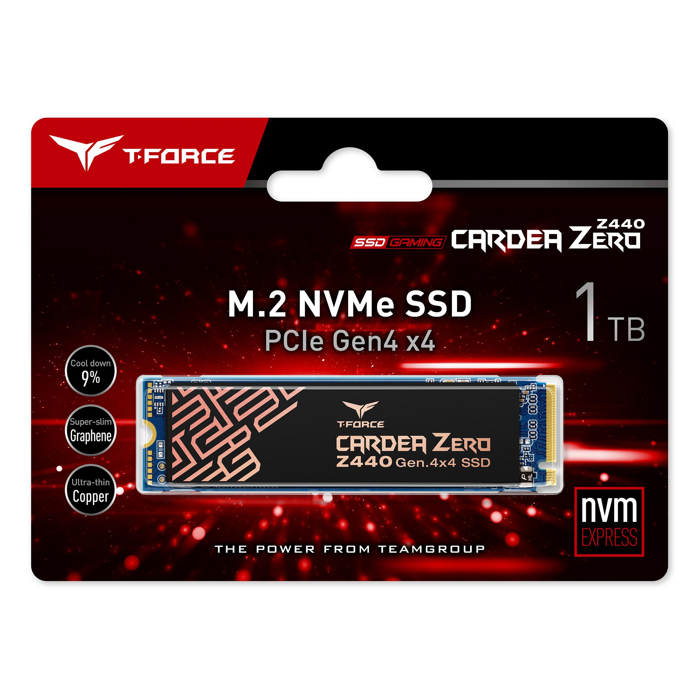 Solid State Drive (SSD) Team Group T-Force Cardea Zero Z440, 1TB, M.2 NVMe PCIe Gen4 x4