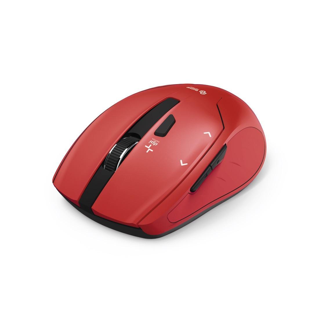 Безжична оптична мишка HAMA Milano, USB, 2400dpi, 2.4GHz RF, Червен